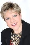 Mulher de negócio no terno preto Imagem de Stock Royalty Free