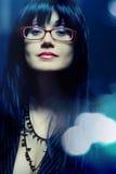 Mulher de negócio nos eyeglasses Imagem de Stock Royalty Free