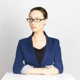 Mulher de negócio nos vidros Fotos de Stock Royalty Free