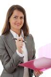 Mulher de negócio nova de sorriso Imagem de Stock Royalty Free