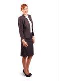 Mulher de negócio nova de sorriso fotografia de stock royalty free