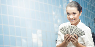 Mulher de negócio nova de sorriso Fotos de Stock Royalty Free