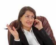 Mulher de negócio nova de sorriso Imagens de Stock