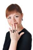 Mulher de negócio nova encantador Imagens de Stock Royalty Free