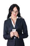 Mulher de negócio nova encantador Foto de Stock Royalty Free