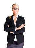 Mulher de negócio nova feliz bonita. fotos de stock