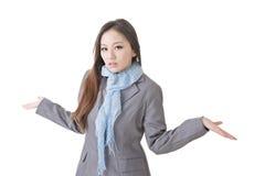 Mulher de negócio nova insolúvel Imagens de Stock Royalty Free