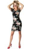 Mulher de negócio nova Mini Dress curto Fotografia de Stock
