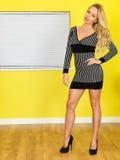 Mulher de negócio nova 'sexy' fotografia de stock royalty free
