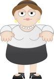 Mulher de negócio ocasional Chubby Imagens de Stock