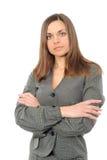 Mulher de negócio positiva Foto de Stock Royalty Free
