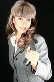 A mulher de negócio propor chamar Fotografia de Stock