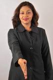 Mulher de negócio que agita as mãos Imagem de Stock Royalty Free