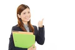 Mulher de negócio que aprecia o sucesso Fotos de Stock