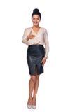 Mulher de negócio que dá o cumprimento falsificado Foto de Stock Royalty Free