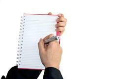 Mulher de negócio que escreve a palavra Imagem de Stock