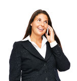 Mulher de negócio que fala no telefone de pilha Foto de Stock Royalty Free