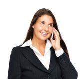 Mulher de negócio que fala no telefone de pilha Imagem de Stock