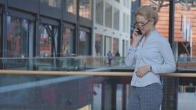 Mulher de negócio que fala pelo telefone Fotografia de Stock Royalty Free
