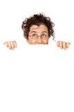 Mulher de negócio que olha acima Imagens de Stock Royalty Free
