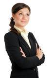 Mulher de negócio que olha o conceito ausente da visão foto de stock royalty free