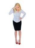 Mulher de negócio que olha para baixo Imagens de Stock