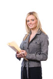 Mulher de negócio que prende documentos jurídicos Foto de Stock Royalty Free