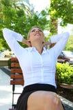 Mulher de negócio que relaxa Imagem de Stock Royalty Free