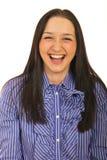 Mulher de negócio que ri para fora ruidosamente fotos de stock