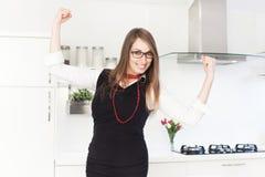 Mulher de negócio que sente motivado imagens de stock