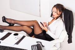 Mulher de negócio quente imagens de stock