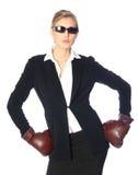 Mulher de negócio resistente imagem de stock royalty free