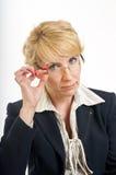 Mulher de negócio séria Imagem de Stock Royalty Free