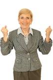 Mulher de negócio sênior bem sucedida imagem de stock