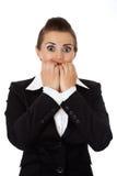 Mulher de negócio Scared imagens de stock royalty free