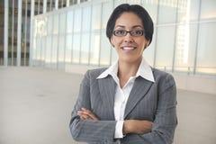 Mulher de negócio segura fotografia de stock