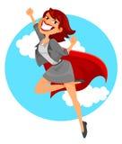 Mulher de negócio super ilustração royalty free