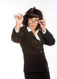 Mulher de negócio superior alegre Imagem de Stock