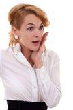 Mulher de negócio surpreendida Imagens de Stock