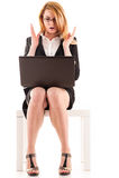 Mulher de negócio surpreendida fotografia de stock royalty free