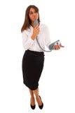 Mulher de negócio Texting imagem de stock