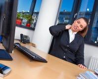 Mulher de negócio Tired Foto de Stock Royalty Free