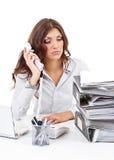 Mulher de negócio Tired foto de stock