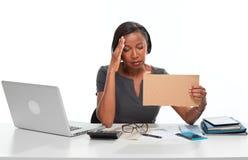 Mulher de negócio Tired imagens de stock royalty free