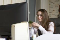 Mulher de negócio triste Fotografia de Stock