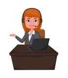 Mulher de negócio um apoio ao cliente com fones de ouvido Foto de Stock