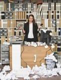 Mulher de negócios ácida Fotos de Stock