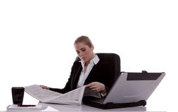 Mulher de negócios. Imagem de Stock