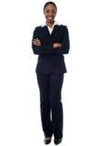Mulher de negócios africana segura foto de stock royalty free