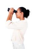 Mulher de negócios afro-americana que olha ao futuro Fotos de Stock Royalty Free